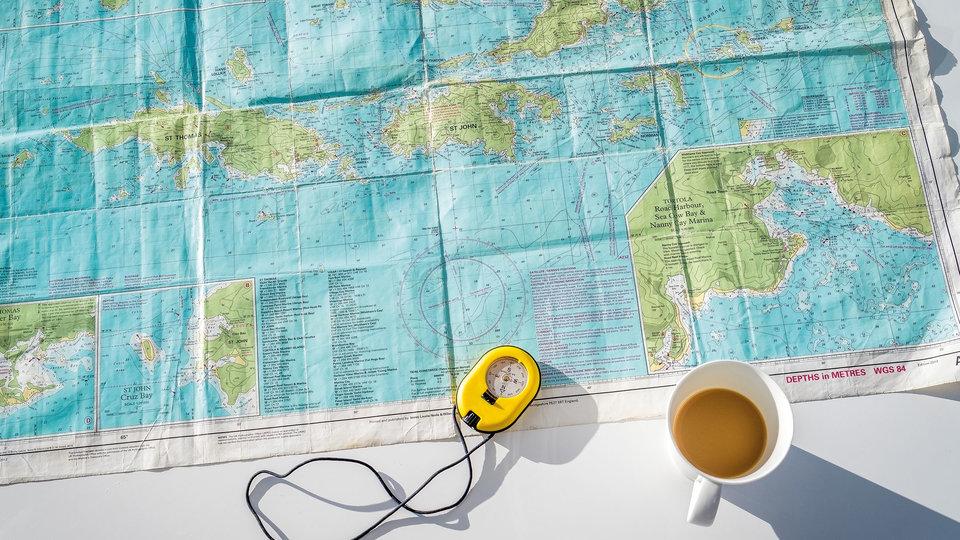 BVI sailing navigation chart