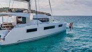 Sunail 505 Catamaran Lagoon starboard view